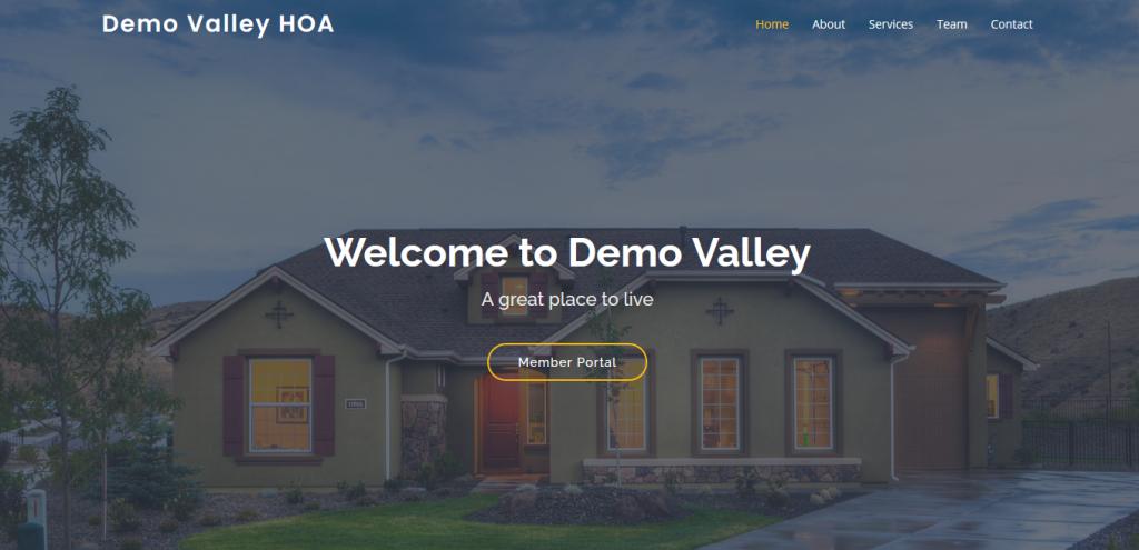 HOA Website built using RunHOA Website Builder