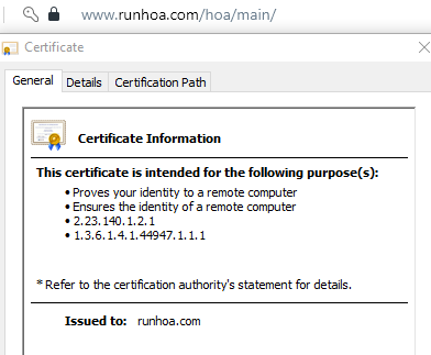 RunHOA Security Encryption