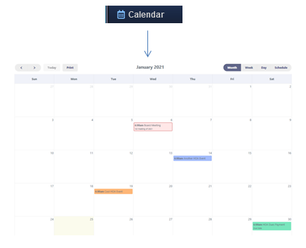 RunHOA Calendar